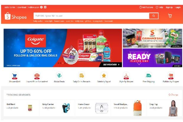 Shopee: More men are getting their products online