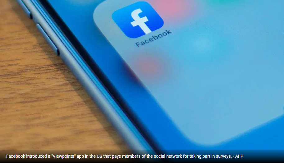 New Facebook app pays people to take part in surveys
