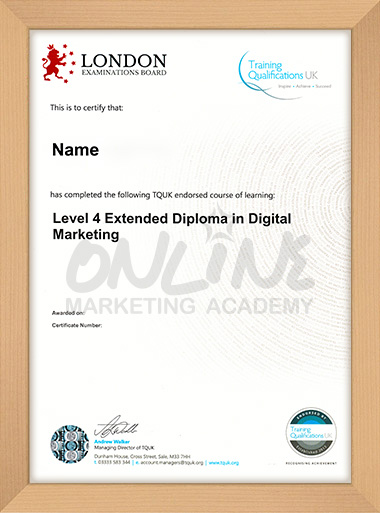 Level 4 Extended Diploma in Digital Marketing