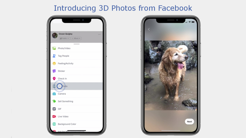 3D Photos Now Rolling out on Facebook and in VR